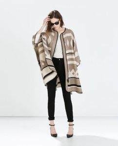 Zara-  Poncho Coat (Mink) $249.00