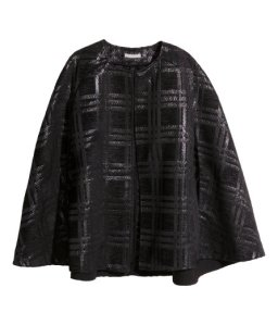 H&M- Textured Cape (Black) $99.00