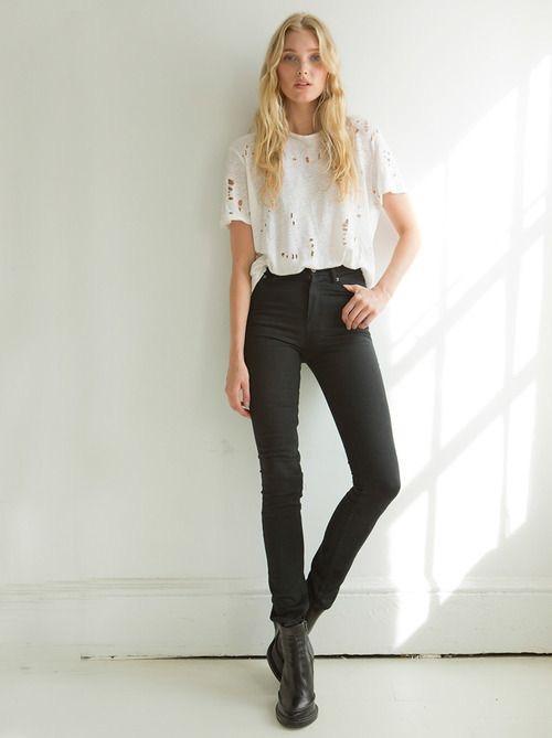 5 black jeans