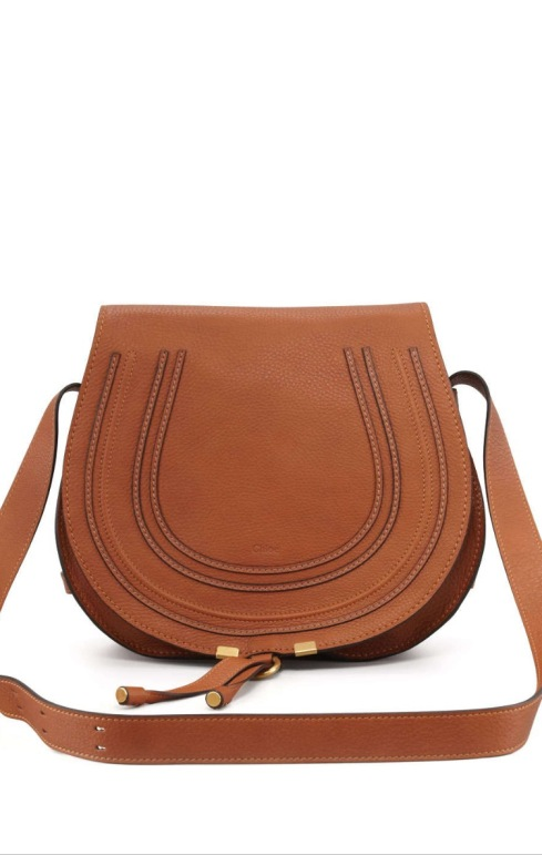 19f3d22b794 Chloe Marcie Medium Crossbody Satchel Bag, Tan $1,395