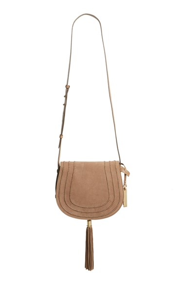 Vince Camuto 'Izzi' Tassel Leather & Suede Crossbody Bag $248