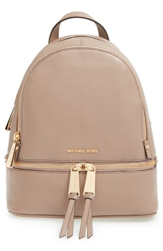 MICHAEl by Michael Kors 'Extra Small Rhea Zip' Leather Backpack