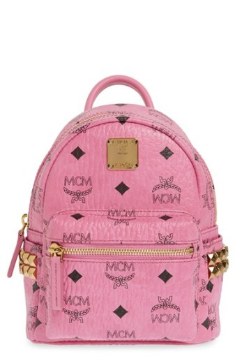MCM 'Mini Stark X' Studded Convertible Backpack