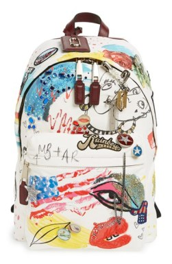 Marc by Marc Jacobs 'Collage' Canvas Backpack