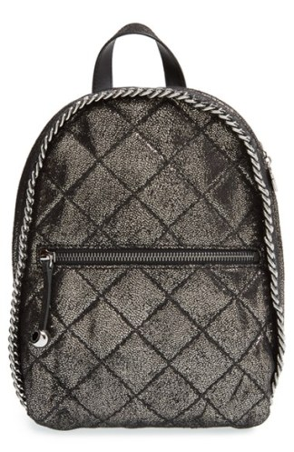 Stella McCartney 'Mini Falabella' Quilted Faux Leather Backpack