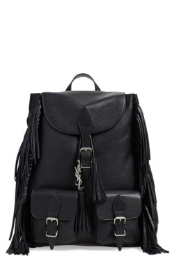 Saint Laurent 'Festival' Fringe Leather Backpack
