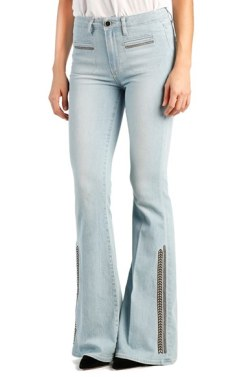 Paige Bell Canyon Vintage High Rise Embroidered Flare Jeans