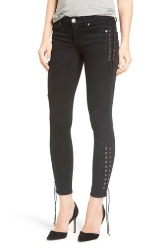 Hudson Jeans Suki Lace-Up Ankle Skinny Jeans